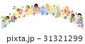 音楽 五線譜 音楽会のイラスト 31321299