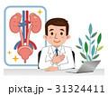 泌尿器の説明をする医師 31324411