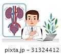 泌尿器の説明をする医師 病気 31324412