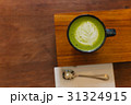 hot matcha green tea latte 31324915