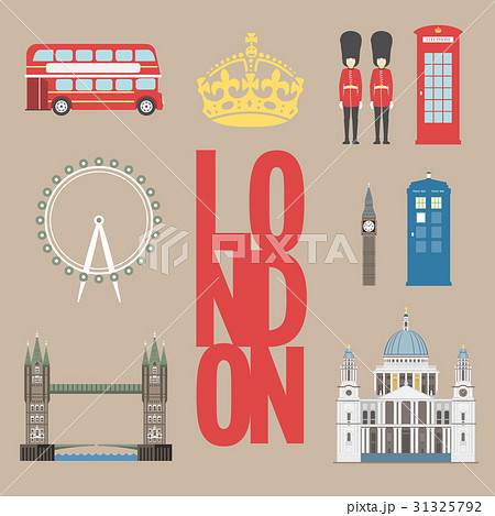 London travel info graphic. Vector illustrationのイラスト素材 [31325792] - PIXTA