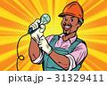 電球 働く人 工事のイラスト 31329411