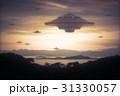空飛ぶ円盤 エイリアン 宇宙人のイラスト 31330057