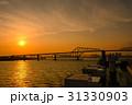 夕陽 夕暮れ 東京湾の写真 31330903