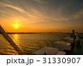 夕陽 夕暮れ 東京湾の写真 31330907