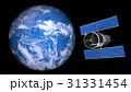 地球と人工衛星 31331454