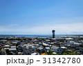 大洗の海とマリンタワーと町並み  31342780