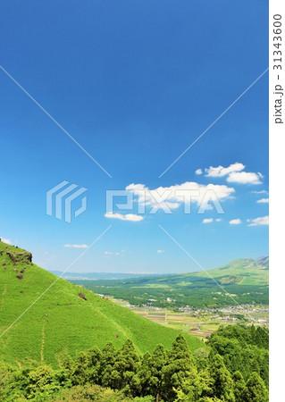 熊本県 青空の阿蘇の風景 31343600