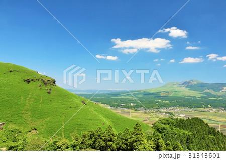 熊本県 青空の阿蘇の風景 31343601