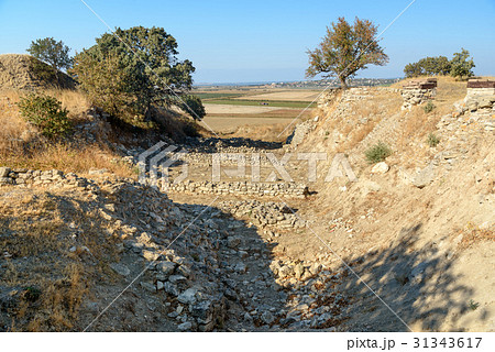 The Schliemann Trench in ancient city Troy. Turkey 31343617