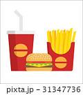 ベクトル 挿絵 ハンバーガーのイラスト 31347736