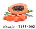 papaya on white background 31354992
