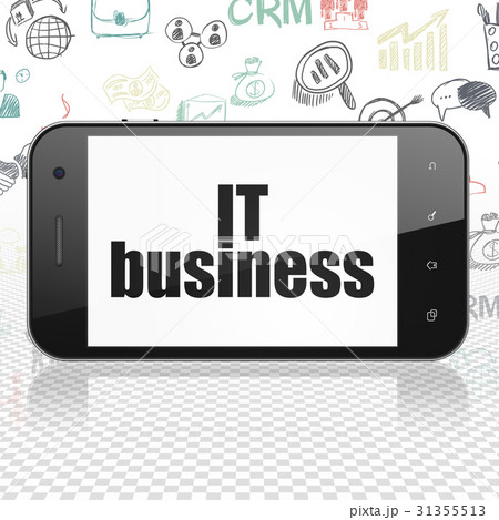 Business concept: Smartphone with IT Business onのイラスト素材 [31355513] - PIXTA