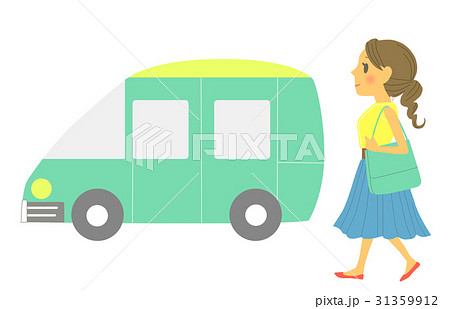 車でお出かけする女性(背景なし) 31359912