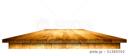 Empty wooden table with clipping maskのイラスト素材 [31360502] - PIXTA