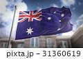 Australia Flag 3D Rendering on Blue Sky Building 31360619