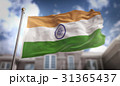India Flag 3D Rendering on Blue Sky Building 31365437