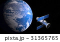 地球と人工衛星 31365765