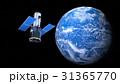 地球と人工衛星 31365770