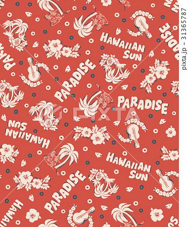 hawaii repeat design Red 31365787