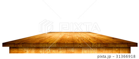 Rustic wooden table vintage with clipping pathのイラスト素材 [31366918] - PIXTA