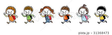 子供たち:走って通学する 31368473