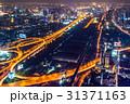 タイの首都バンコクの夜の高速道路 31371163