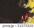 金魚 紅葉 背景のイラスト 31373320