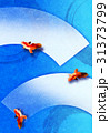 金魚の和紙【和風背景・シリーズ】 31373799