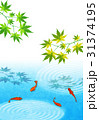 金魚 和紙 和風のイラスト 31374195