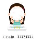 女の子 洗顔 洗顔フォームのイラスト 31374331