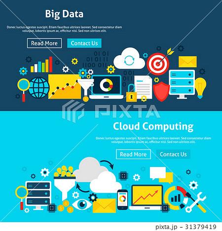 big data analysis website bannersのイラスト素材 31379419 pixta