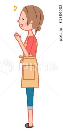 手を合わせて喜ぶ女性 31384602