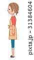 横を向いた女性 31384604