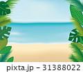 ビーチ トロピカルなフレーム 31388022