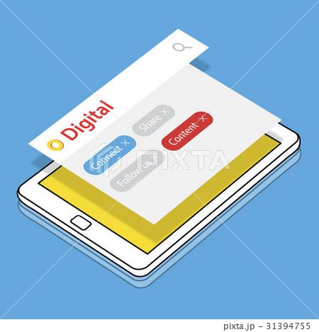 Blog Online Get In Touch Digital Community Mediaのイラスト素材 [31394755] - PIXTA