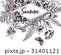 花 フレーム ガーデンのイラスト 31401121