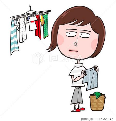 洗濯物を干す 31402137