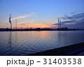 工場地帯 夕暮れ 夕景の写真 31403538