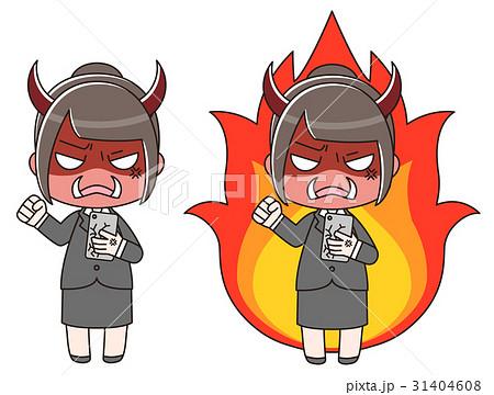 スマートフォンを見て物凄く怒っているスーツの女性 31404608