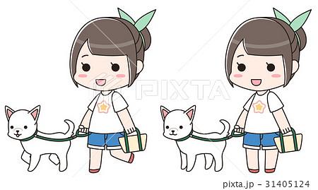犬の散歩をする女性 31405124