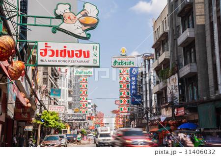 タイの首都バンコクのチャイナタウン(ヤワラート通り) 31406032