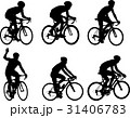 racing bicyclists silhouettes collection 31406783