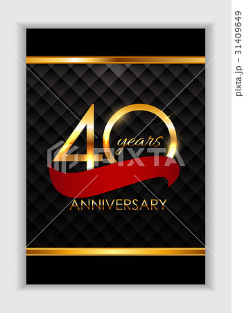Template 40 Years Anniversary Congratulationsのイラスト素材 [31409649] - PIXTA