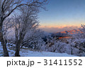 富士山 樹氷 朝焼けの写真 31411552