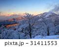 富士山 樹氷 朝焼けの写真 31411553