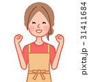 ガッツポーズをする女性 31411684