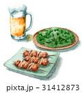 ビールと焼き鳥と枝豆 31412873