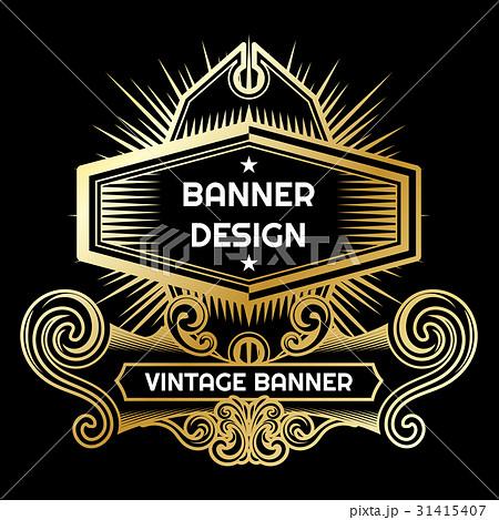 vintage flyer background design templateのイラスト素材 31415407