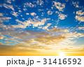 夕日 夕焼 日没の写真 31416592